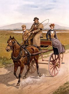 Irish jaunting car, ca - Horse-drawn vehicle - Wikipedia The Quiet Man, Horse Cart, Horse Carriage, Vintage Horse, Cabriolet, Ad Art, Horse Drawn, Safari, Old Pictures