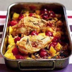 Crisp Italian Chicken & Polenta from BBC Good Food, found at www.edamam.com.