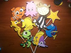 Finding Nemo Cupcake Toppers  10 pack  Variety by CardsbyLexiRose, $12.50