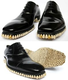 Do Not Want: Tooth Shoes.... might be funny only if you are a dentist, and it's Halloween... maybe
