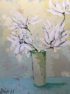 Gary Bodner, 'Lazy Daisy I', Mixed Media on Canvas, 40x30 - Anne Irwin Fine Art