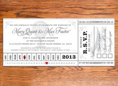 DIY Victorian Steampunk Ticket Wedding Invitations by NoblestHart, $40.00