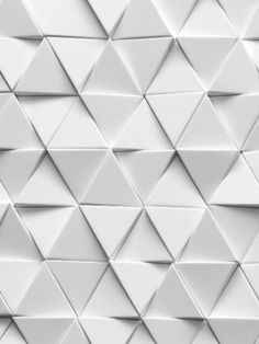 London-based design practice, Giles Miller Studio, specialises in the development of truly innovative surfaces for interior, hospitality and retail design projects Shape Design, Tile Design, Wall Patterns, Textures Patterns, Exterior Tiles, Triangle Wall, Triangle Design, 3d Texture, White Tiles Texture