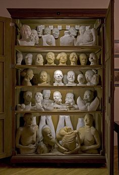 astropop  Plaster Models in Pathological Cabinet, The Museum of the Faculty of Medicine at the Jagiellonian University, Krakow    Photo © Joanna Ebenstein, from The Secret Museum Exhibition, Observatory, 2010.