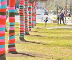 """They call it """"Yarn Bombing"""".  ...but is it """"Art""""???  ...just asking."""
