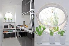 Ideas para una cocina de pocos metros  La luz natural es fundamental para este ambiente de la casa