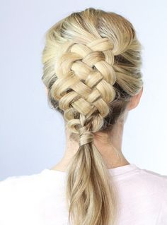 Get your fingers warmed up for this Dutch five strand braid.