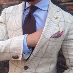 Men's Style...might have upped the ante with a more vibrant tie myself..picking out a colour from the hankie