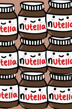 Kawaii nutella, should have this as a wallpaper on my phone