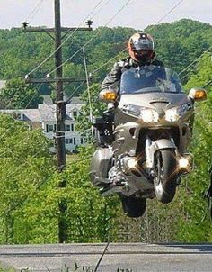 Bill ....Cant get air in a goldwing ehh lol @BillGP Of course you can. 450kg unladen, you can even do it at 5000kg, two-up... but don't try that at home, unless you know what you're doing, and what's to lose!. Bill..