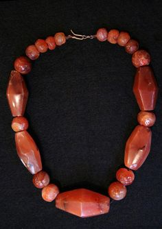 Dorian Rae Collection | A necklace composed of Carnelian Agate Beads from Java, Indonesia from ca 500 BC - 1000 AD