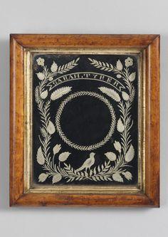 Robert Young Antiques - Folk Art Collection. Rare Folk Art Courting Mirror #FolkArt