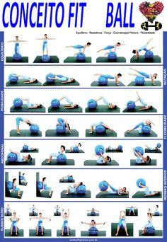 exercicios funcionais com a bola suiça                              …