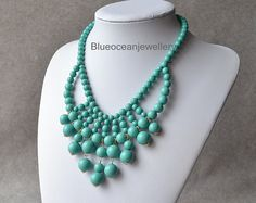 Turquoise Bubble Necklace by Blueoceanjewellery Want to make yourself feel special? Visit www.treenabean.etsy.com