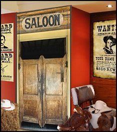 Western decor on pinterest western decor saddles and for Cowboy themed bedroom ideas
