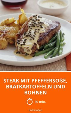 Rinder Steak, Baked Potato, Healthy Eating, Potatoes, Chicken, Baking, Ethnic Recipes, Eat Smarter, Food