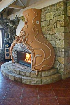 Cob Building, Green Building, Building A House, Earth Bag Homes, Earthship Home, Natural Building, Fireplace Design, Home Decor Bedroom, Cheap Home Decor