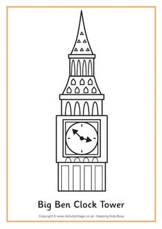 Big Ben Colouring Page 2