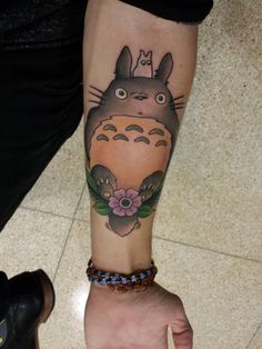 cool Treated myself to a tattoo of Totoro. One of my favorite Ghibli characters. Josh Howard at Solid State Tattoo in Milwaukee.