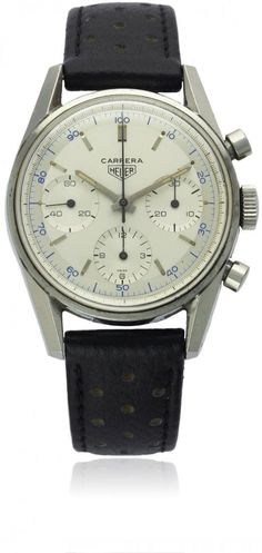 HEUER 'DECI' CHRONOGRAPH. Before there was Tag Heuer, there was Heuer. Highly sought after by those in the know.: