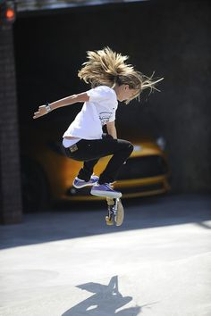 Skater girl- my girls in a few years.... simply awesome..