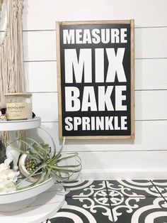 Bold Lettered Kitchen Sign about Baking