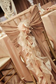 glamorous vintage wedding  reception  chair decorations