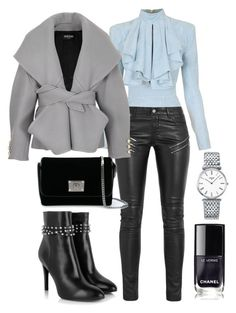 """CLASIC CHIC"" by jenileestyle on Polyvore featuring Balmain, Yves Saint Laurent, Jimmy Choo and Longines"