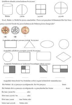 2. Sınıf Matematik Etkinlik ve Çalışma Kağıtları - Kesirler Etkinliği   Eğitim Destek Sitesi