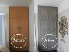diy home upgrades Going through a home renovation is actually the worst. Time to take matters into your own hands. Home Diy, Home Upgrades, Furniture Makeover, Door Makeover, Diy Home Improvement, Home Projects, Home Decor, Closet Makeover, Home Renovation