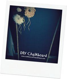 #Easy #DIY #Chalkboard #cookiescraftsandchaos.com
