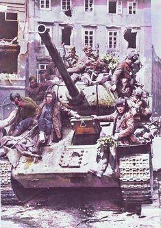 Berlin. Rapists riding on a tank. -tom