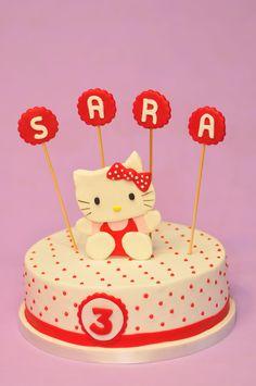 Hello Kitty cake. Para el cumpleaños de Sara.