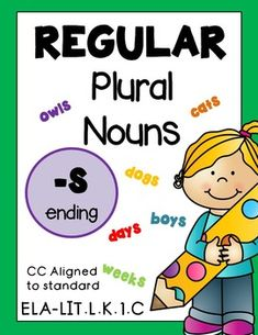 PLURAL NOUNS kindergarten! Regular -S ENDING, 22 Pages, Common Core Aligned Need a MEGA pack of regular and irregular plurals? MEGA PACK Regular & Irregular Plurals (6 packets for 30% off) Need the -ES ENDING Worksheets? Click here.PLURAL NOUNS Kindergarten! Regular -ES ENDING, 18 Pgs Common ...