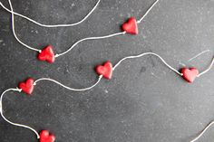 Valentines Day Craft: Heart on a Chain .. Reesie and I are doing this for all of our little loved ones for sure!! this is soo cute