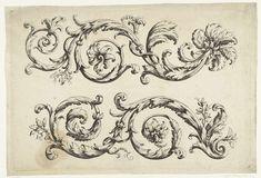 Paul Androuet Ducerceau | Twee friezen van bladranken, Paul Androuet Ducerceau, Anonymous, Anonymous, c. 1640 - c. 1760 |
