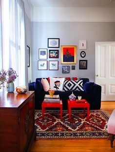 """Glorious Global"" Art Affinity living room from Houzz and Wendistry.com"