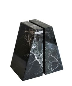 - Pair of Modern Black Marble Bookends - made of solid black marble with white and grey veining throughout - polished finish - rubber feet on the underside protect your tabletop - each bookend measure Glam Living Room, Teal Accents, Affordable Home Decor, Black Marble, Minimalist Decor, Decorative Objects, Home Decor Accessories, Bookends, Stone