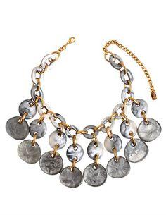 Denaive Martine necklace - grey - Feather & Stitch