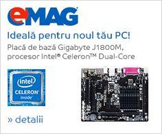 Placa de baza Gigabyte J1800M-D3P, procesor Intel® Celeron™ Dual-Core J1800 - eMAG.ro Cumpara Placa de baza Gigabyte J1800M-D3P, procesor Intel® Celeron™ Dual-Core J1800 online… EMAG.RO