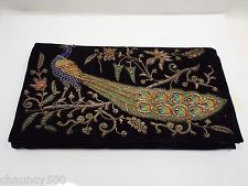 Vintage Ivory Palace New Delhi Beaded Real Gold & Silver, Peacock Beaded Purse