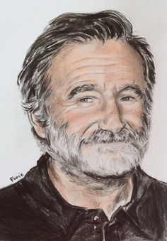 Tribute to Robin Williams by FoxieFern on DeviantArt Robin Williams Art, Robert Williams, Celebrity Drawings, Celebrity Portraits, Hollywood, Branding, Man Humor, Comedians, My Idol