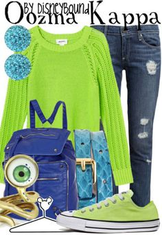 Oozma Kappa ~ Monsters University By Disney Bound Disney Character Outfits, Disney Themed Outfits, Character Inspired Outfits, Disney Bound Outfits, Disney Dresses, Disney Clothes, Cute Disney, Disney Style, Disney Inspired Fashion