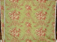 www.brickhousefabrics.com Laura Ashley fabric bird toile green red from Brick House Fabric: Novelty Fabric