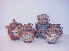 Antique Japanese Hotta Yu Moriage Porcelain Tea Set | eBay