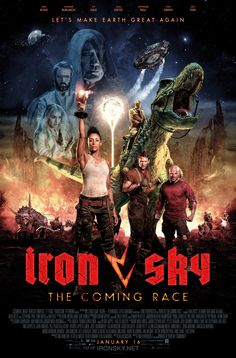 Iron Sky The Coming Hot Movie Art Canvas Poster Print