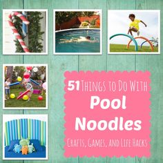 51 Things To Do with Pool Noodles -- Let the summer fun begin!