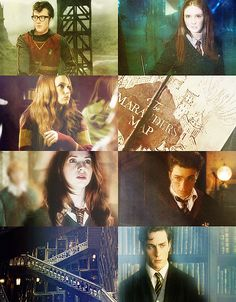 Lily Evans and James Potter | 7th year at Hogwarts.