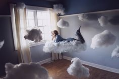 i definitely want to get a room of floating clouds in my next apt.