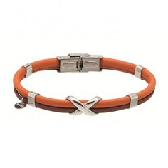 Man Steel And Leather Bracelet Infinito Marlu' - Bracciale Uomo Cuoio e Acciaio Infinito Marlù